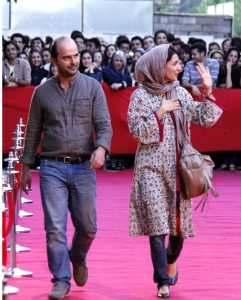 عکس اینستاگرام لیلا حاتمی و همسرش