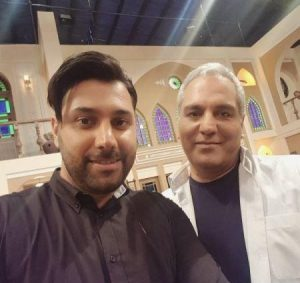 عکس اینستاگرام احسان خواجه امیری در کنار مهران مدیری در دورهمی