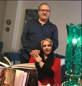 عکس اینستاگرام افسانه چهره آزاد و همسرش