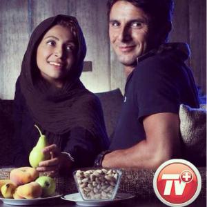 عکس اینستاگرام نیلوفر خوش خلق و همسرش