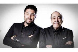 عکس اینستاگرام احسان خواجه امیری در کنار پدرش