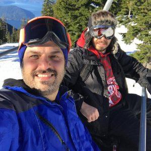 عکس اینستاگرامی سام درخشانی در اسکی