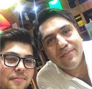 عکس اینستاگرام مانی رهنما در کنار پسرش
