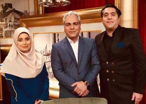 عکس اینستاگرام مانی رهنما در کنار همسر دومش صبا راد و مهران مدیری در دورهمی