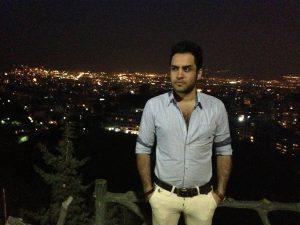عکس اینستاگرام حسین توکلی در شب