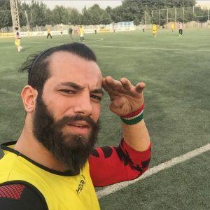 عکس اینستاگرام امیر تتلو در زمین فوتبال