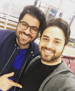 عکس اینستاگرام حامد همایون در کنار بابک جهانبخش