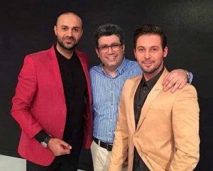 عکس اینستاگرام حمید حامی در کنار رضا رشیدپور و دانیال عبادی