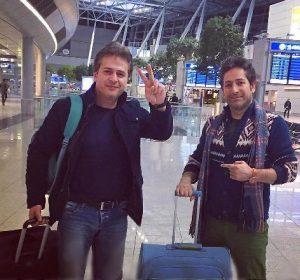 عکس اینستاگرام امیر تاجیک در فرودگاه