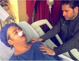 عکس اینستاگرام امیر تاجیک در بیمارستان