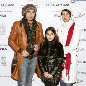 عکس اینستاگرام رضا یزدانی در کنار همسر و دخترش