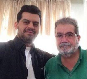 عکس اینستاگرام شهاب رمضان در کنار پدرش