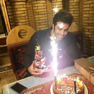 عکس اینستاگرام مازیار بازیار در جشن تولدش