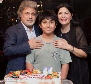 عکس اینستاگرام داریوش اقبالی در کنار همسر و پسرش