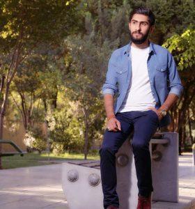 عکس اینستاگرام میلاد هارونی در پارک