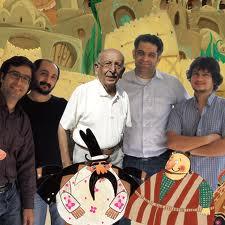 عکس اینستاگرام مرتضی احمدی در کنار گویندگان شکرستان