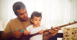 عکس اینستاگرام آریا عظیمینژاد در کنار پسرش