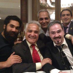 عکس اینستاگرام انوشیروان روحانی در کنار مهران مدیری و خشایار اعتمادی و علی زند وکیلی