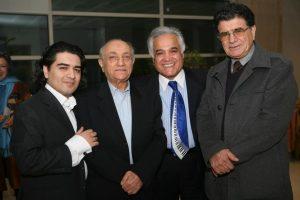 عکس اینستاگرام انوشیروان روحانی در کنار محمدضا و همایون شجریان