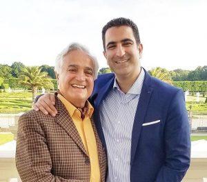 عکس اینستاگرام انوشیروان روحانی در کنار پسرش رضا