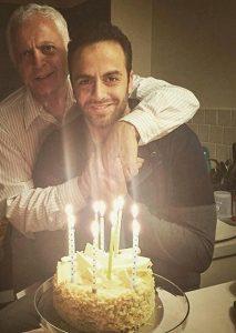 عکس اینستاگرام رها اعتمادی در کنار پدرش در جشن تولدش