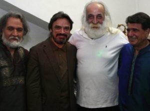 عکس اینستاگرام محمدرضا لطفی در کنار محمدرضا شجریان و حسین علیزاده و مجید درخشانی