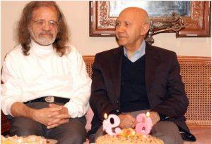 عکس اینستاگرام جلال ذوالفنون در کنار دکتر الهی قمشه ای