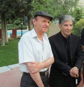 عکس اینستاگرام محمد منتشری در کنار نادر گلچین